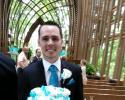 The teal groom