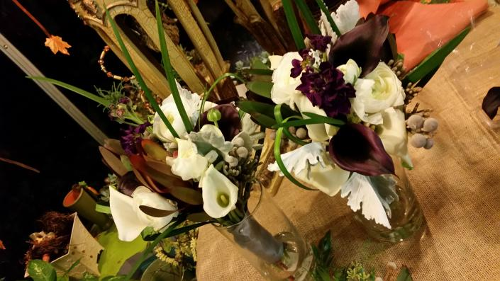 Wild flowers  and callas