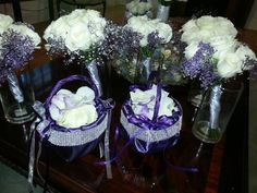 eggplant with glitz for the flower girls
