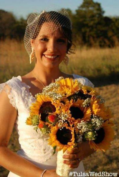 Sunflowers in lace